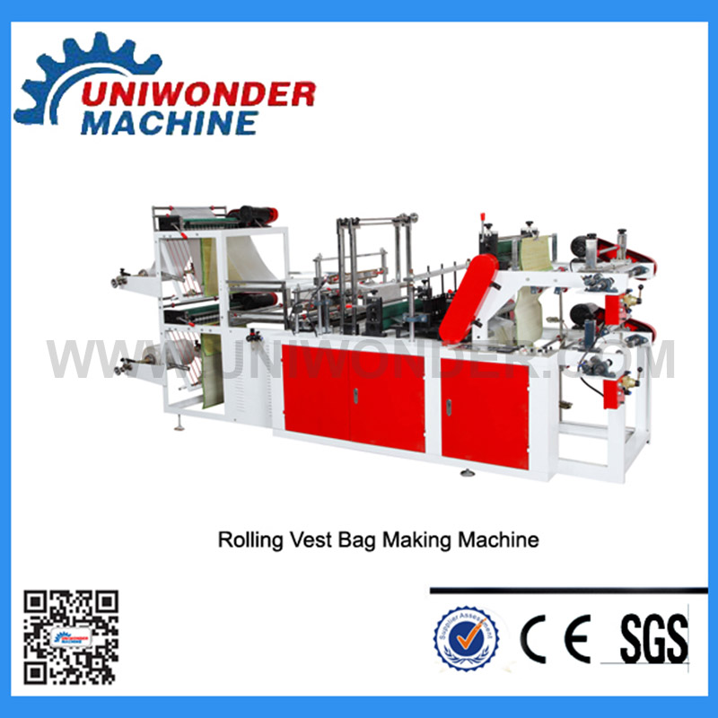 High Speed Double Layers Plastic Bag Making Machine