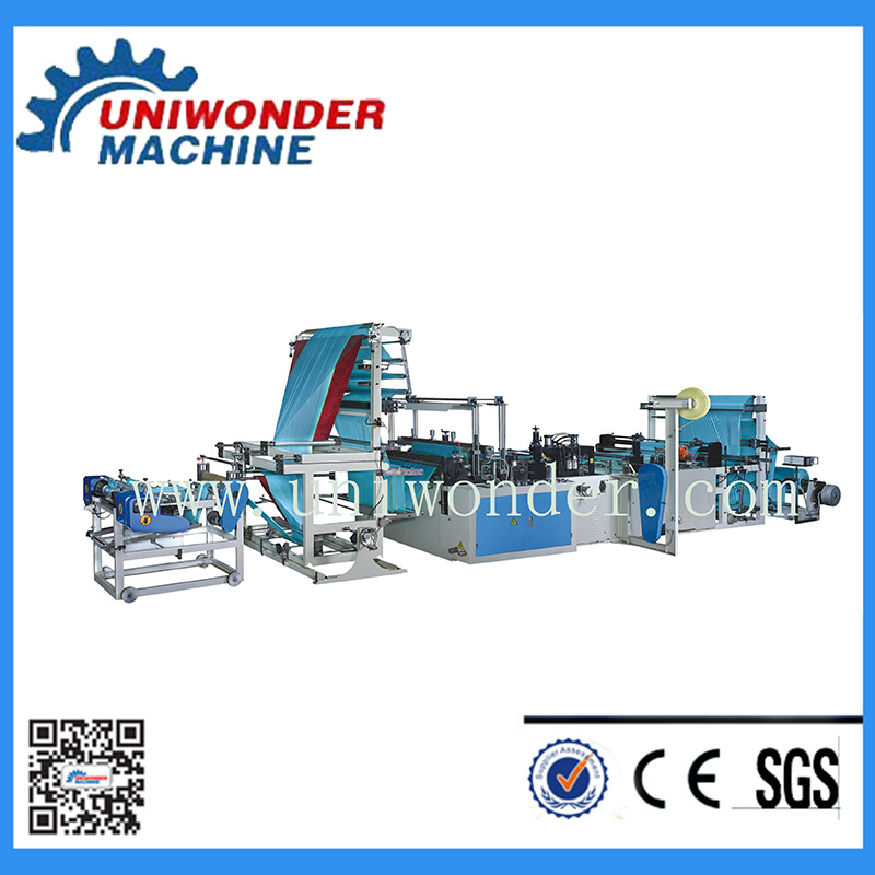 Fully Automatic Ribbon-through Garbage Bag Making Machine