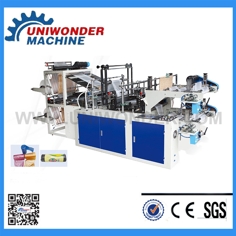Higher Speed Double Layers Plastic Roll-Bag Making Machine