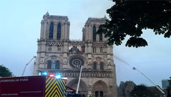 The Fire Of Notre Dame de Paris, France: Hundreds Of People Pray And Cry
